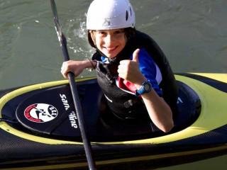 Canoista, Kayaker, Canoa Sacile, Kayak Sacile, Bambino in Canoa